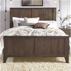 California King Wood Panel Bed