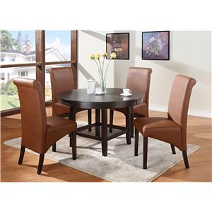 "Modus International Cosmo Dining 5-Piece 48"" Dining Table & Side Chair Set"