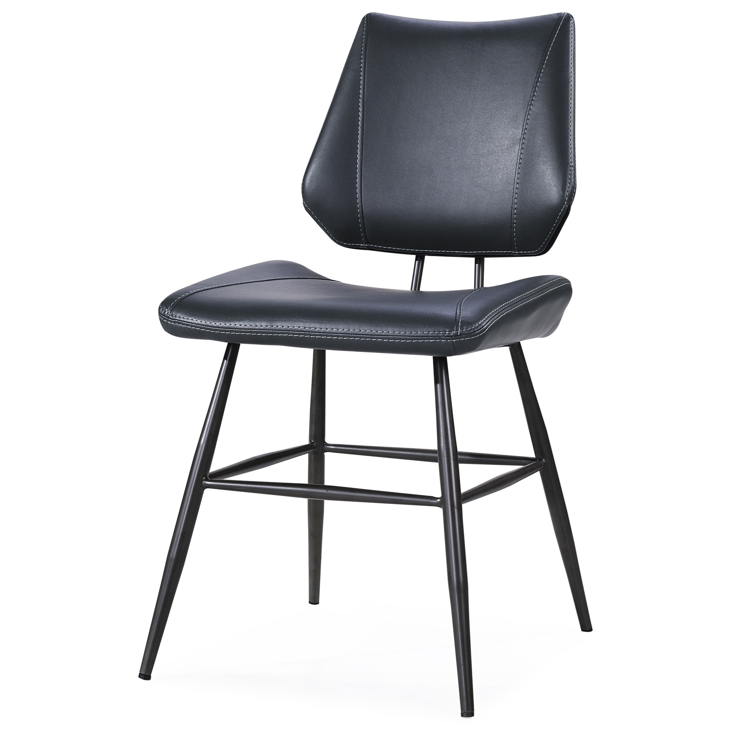 Crossroads Vinson Sculpted Modern Dining Chair in Cobal by Modus International at Del Sol Furniture