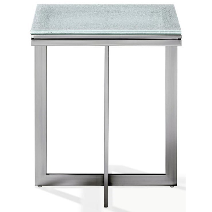 Eliza End Table in Ultra White at Sadler's Home Furnishings