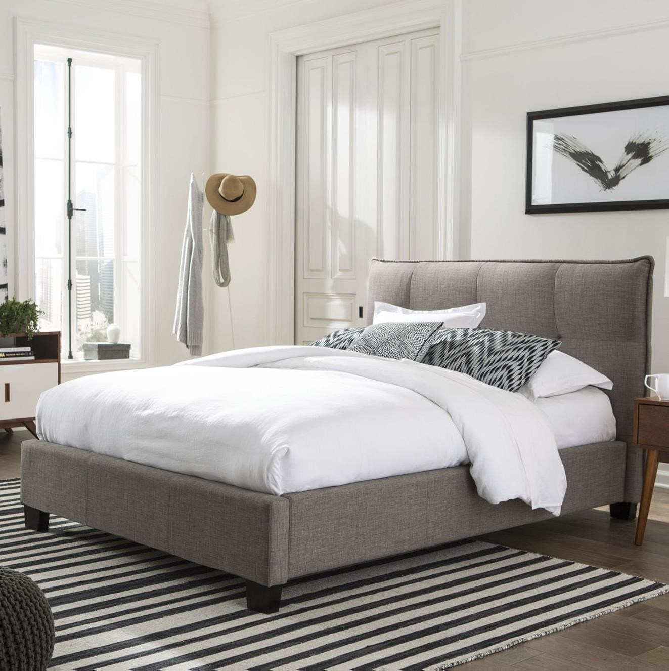 Geneva Queen Adona Platform Storage Bed at Sadler's Home Furnishings