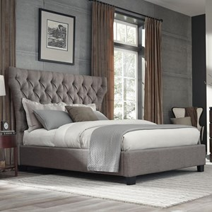 Queen Melina Upholstered Platform Storage Bed with Diamond Tufting