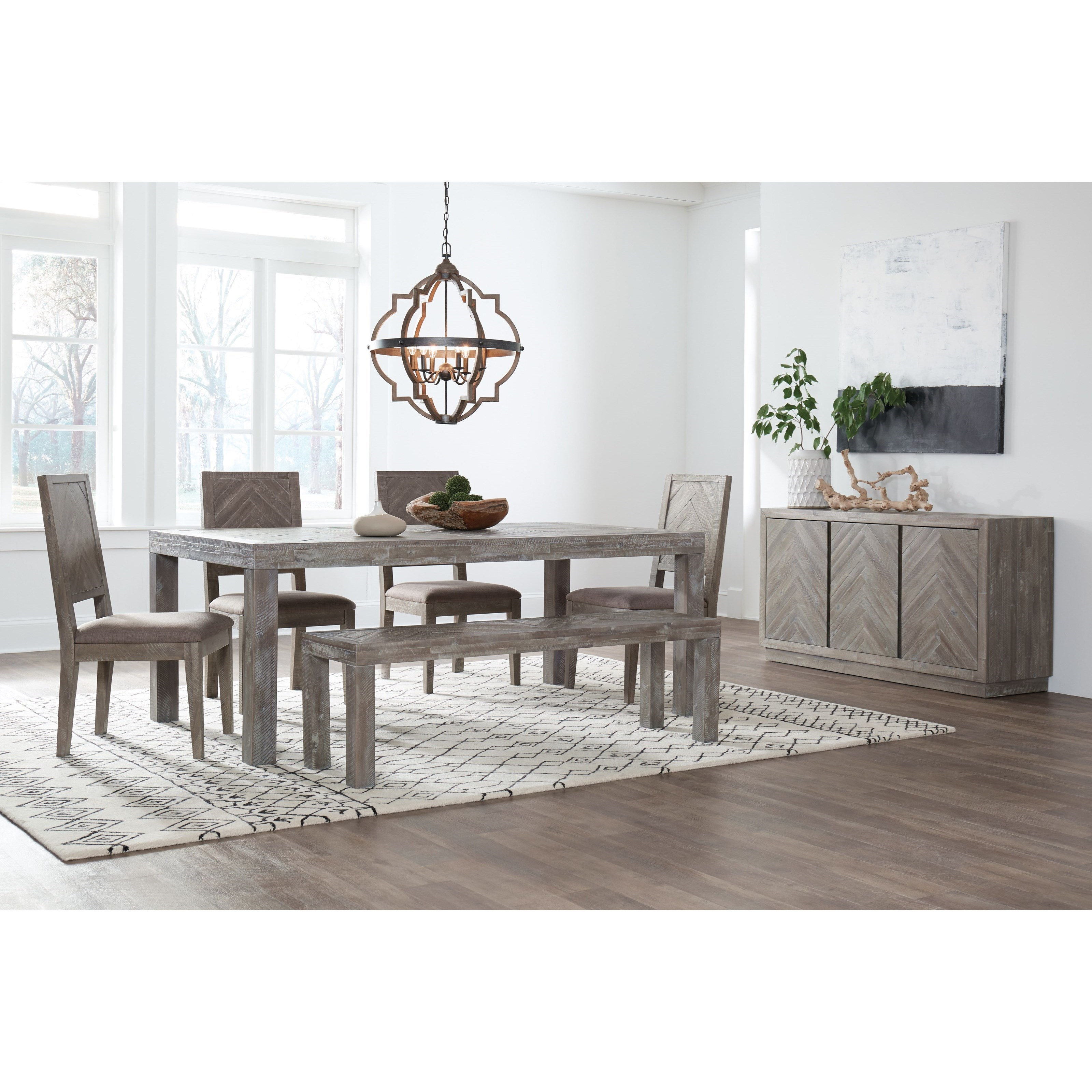 Herringbone Formal Dining Room Group by Modus International at A1 Furniture & Mattress