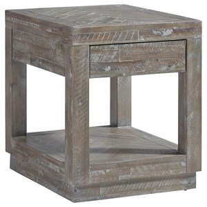 Contemporary 2-Drawer End Table