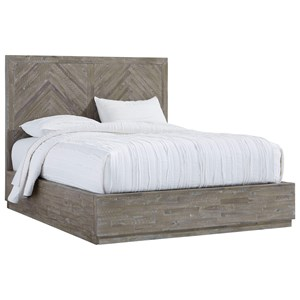 Contemporary Queen Storage Bed with Large Footboard Drawer