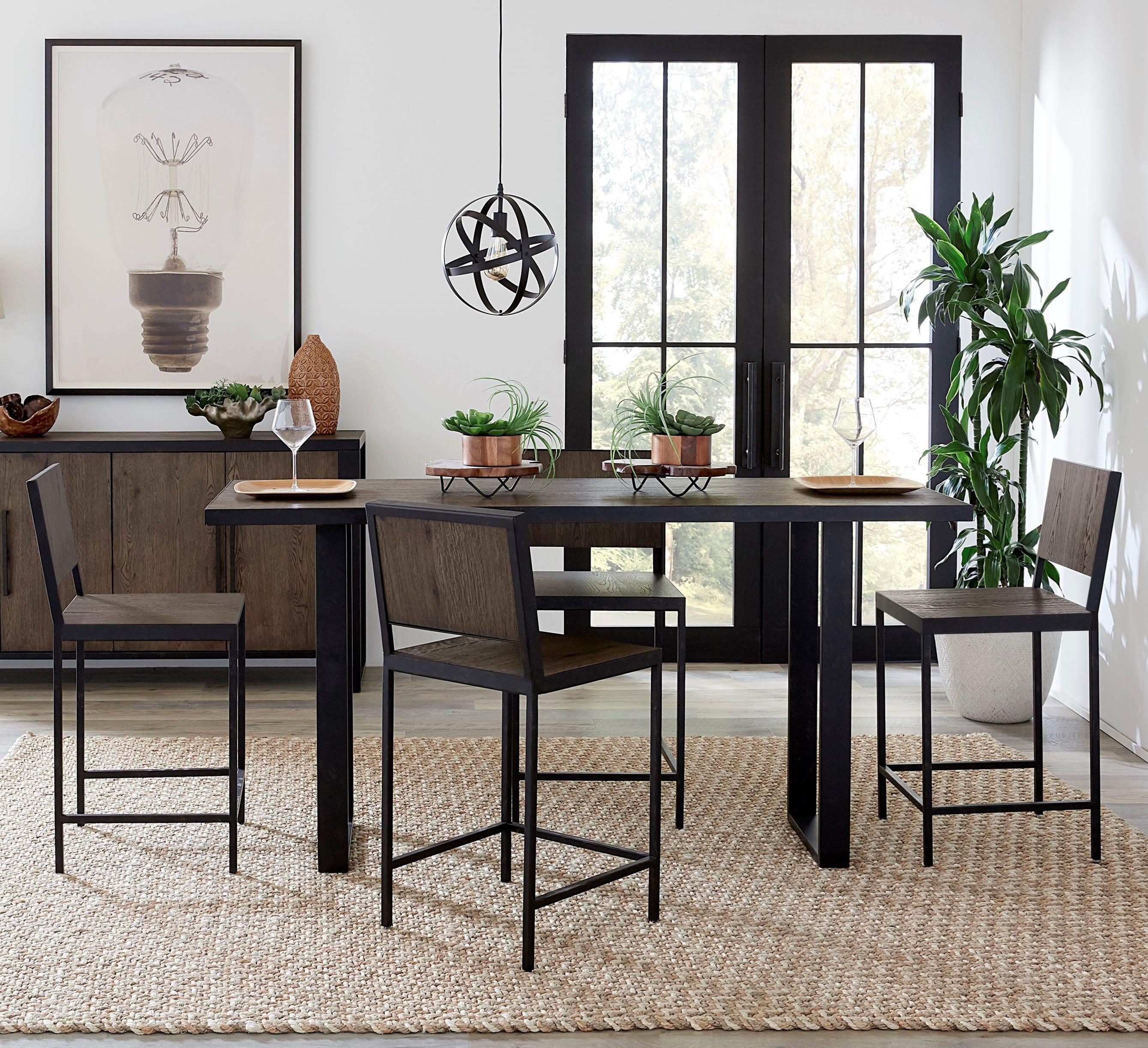 Hudson 5-Piece Counter Table Set at Sadler's Home Furnishings