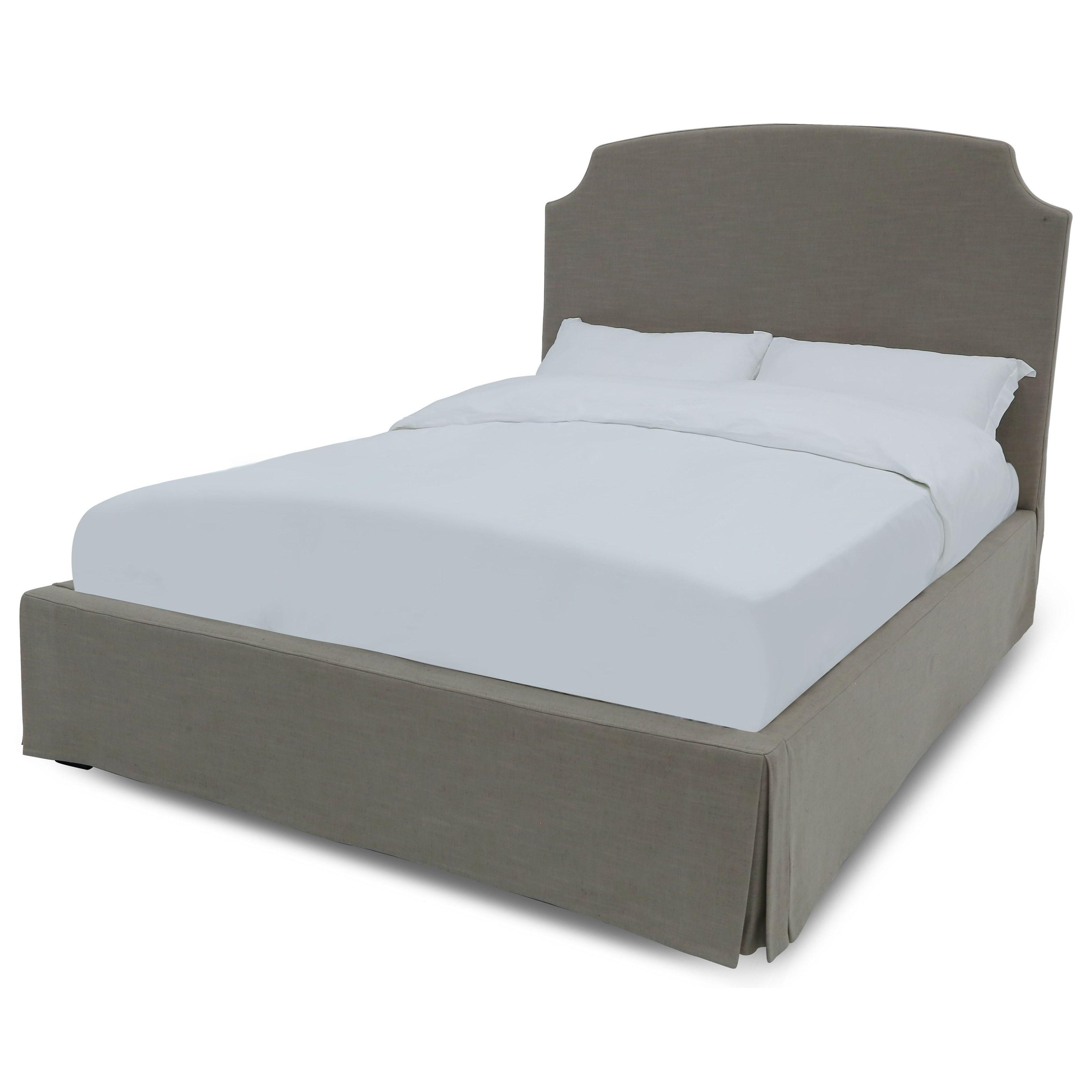 Laurel Full Upholstered Skirted Storage Bed