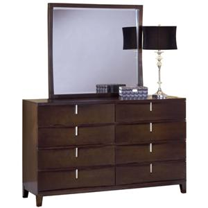 Modus International Legend Wood Eight Drawer Dresser & Mirror Set