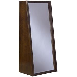 Modus International Legend Wood Rolling Floor Mirror w/ Bookshelf Back