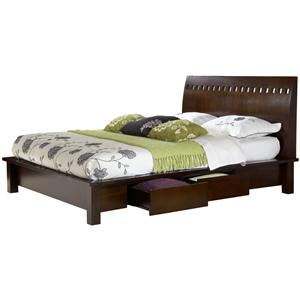 Modus International Legend Wood King Platform Storage Bed