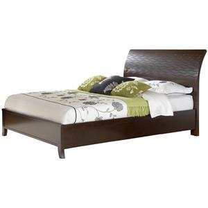 Modus International Legend Wood Queen Swirl Carved Sleigh Bed