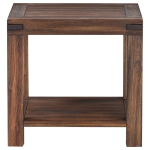 Solid Wood Rectangular End Table