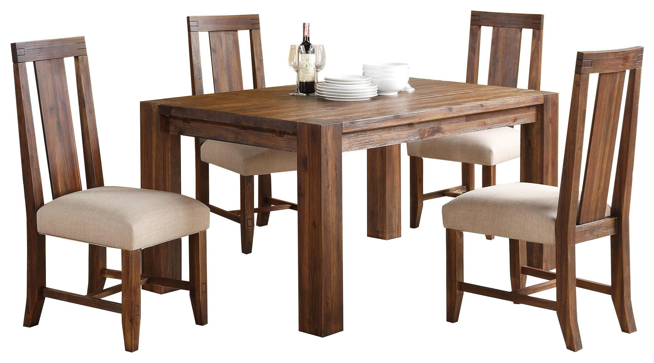 5-Piece Table & Chair Set at Sadler's Home Furnishings
