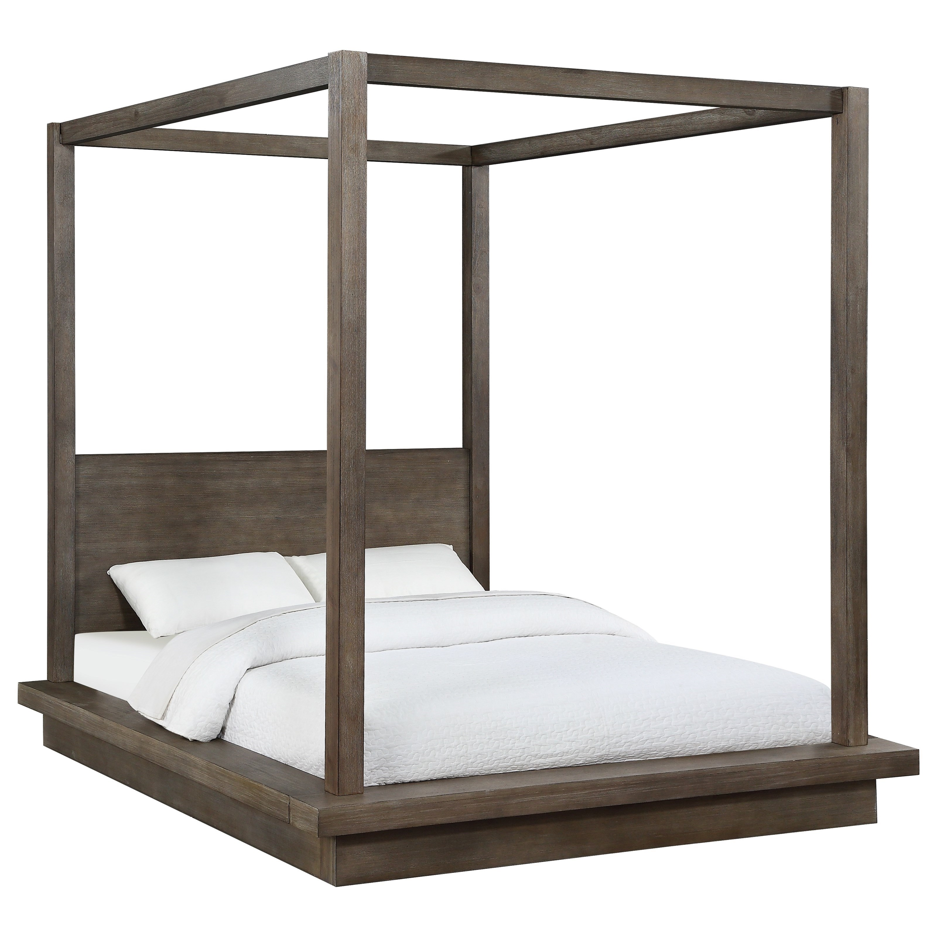 Melbourne California King Canopy Bed at Sadler's Home Furnishings