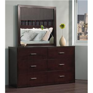 Modus International Modera Dresser and Mirror Set