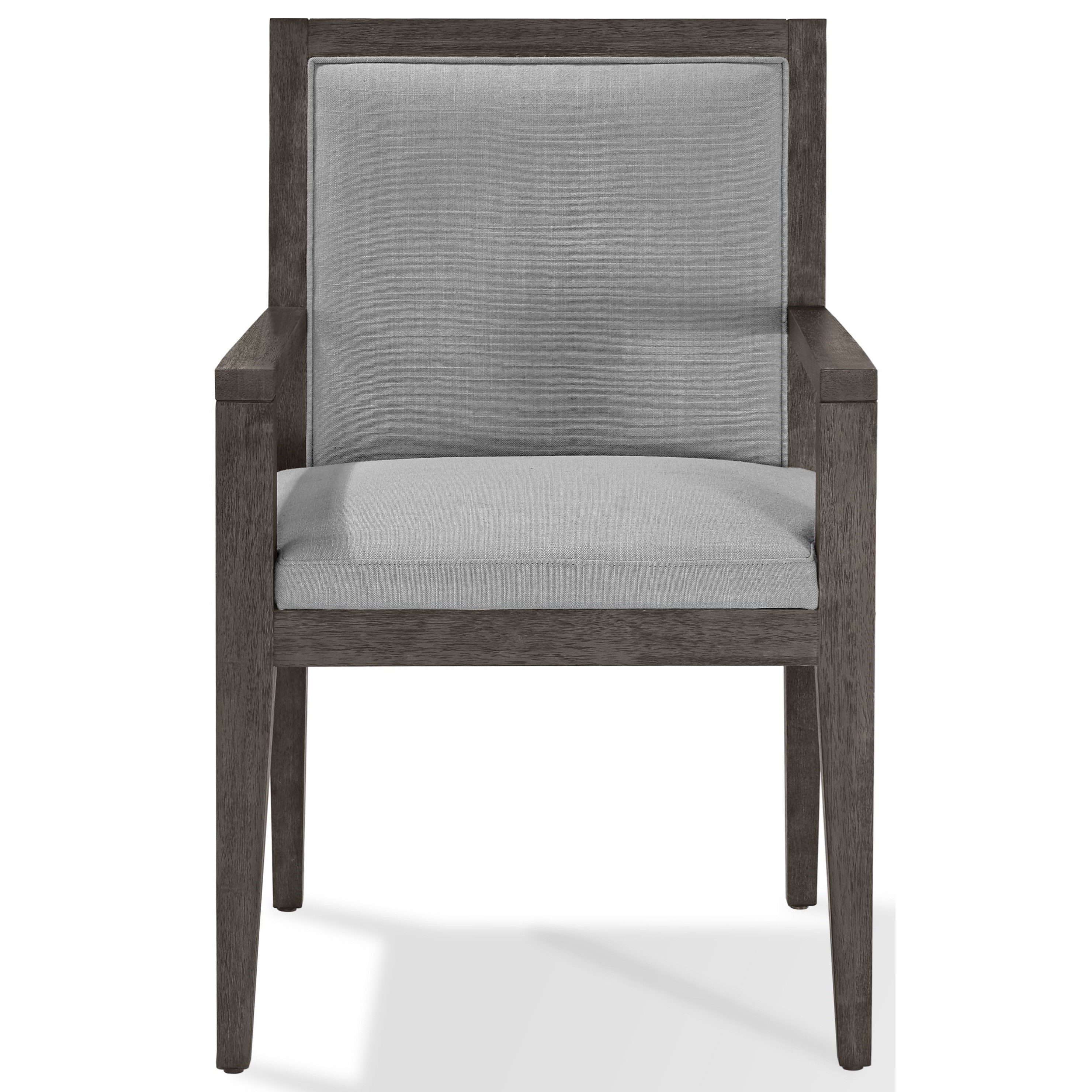 Wood Framed Arm Chair in French Roast