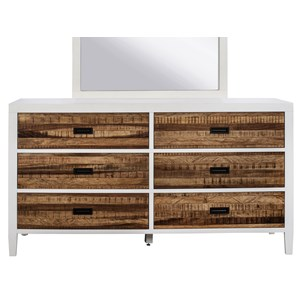 Six Drawer Dresser with Top Felt-Lined Drawer