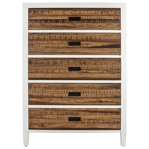 Five Drawer Chest with Felt-Lined Top Drawer