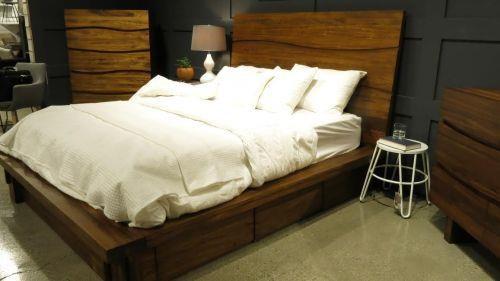 Ocean Queen Platform Storage Bed by Modus International at HomeWorld Furniture