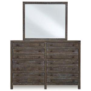 8-Drawer Dresser and Mirror
