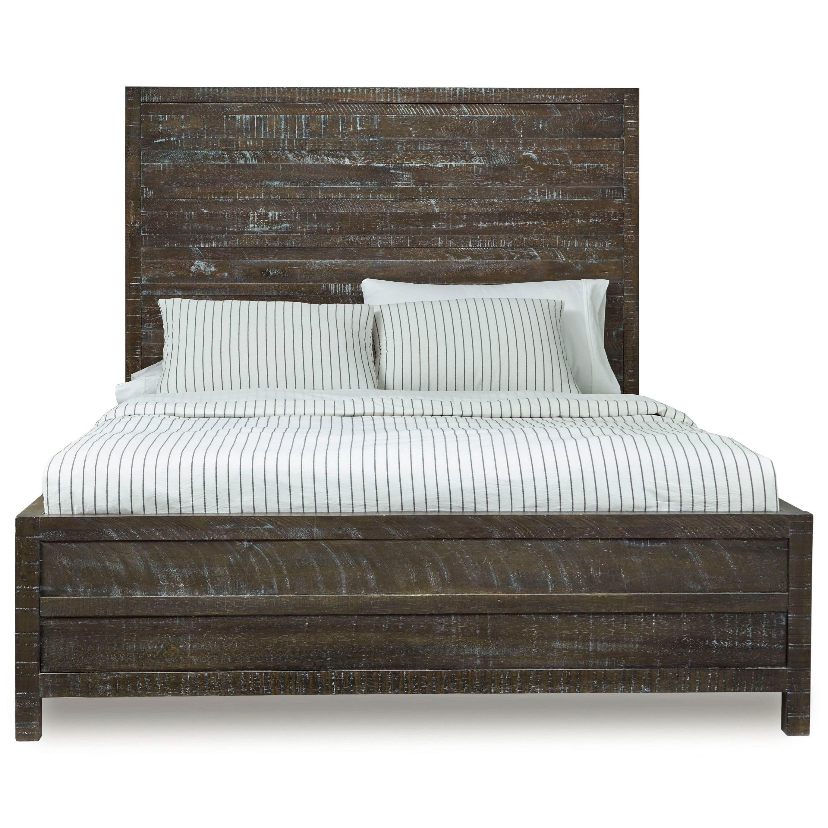 12468 California King Low-Profile Bed at Sadler's Home Furnishings