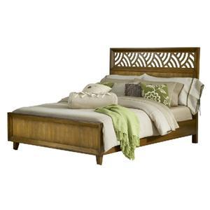 Mission King Bed with Trellis Lattice Headboard