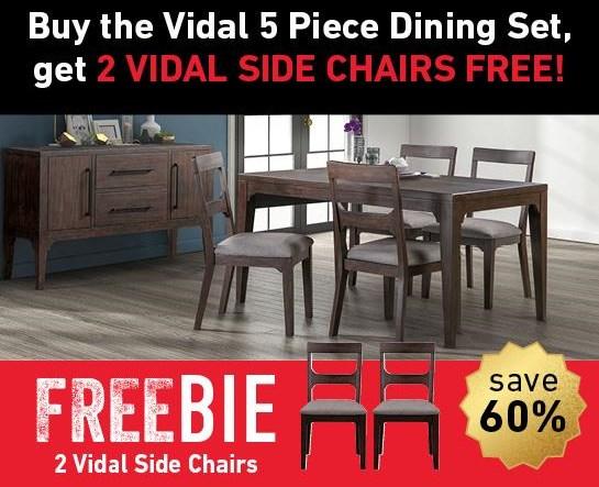 Vidal Vidal Dining Set with Freebie! by Modus International at Morris Home
