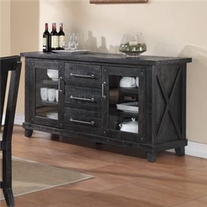 Sideboard with Drawer and Shelf Storage