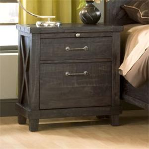 2 Drawer Rustic Nightstand