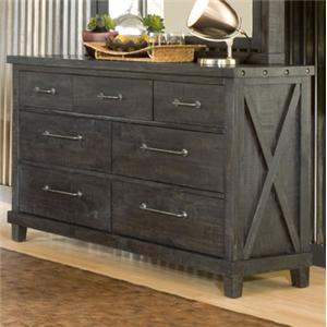7 Drawer Rustic Dresser