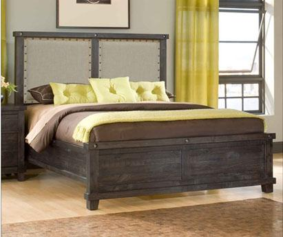 Yosemite Low Profile Cafe Queen Fabric Bed by Modus International at Del Sol Furniture