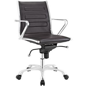 Ascend Mid Back Office Chair In Brown