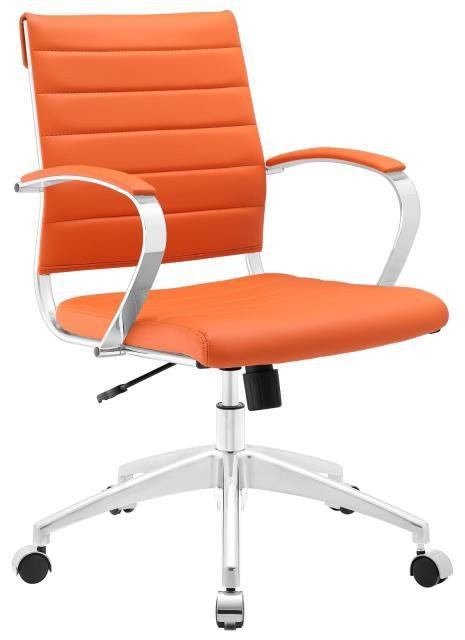 Home Office Jive Mid Back Office Chair In Orange by Modway at Value City Furniture