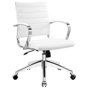Jive Mid Back Office Chair In White
