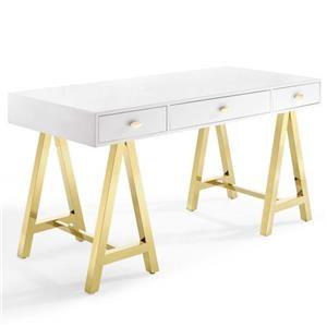 Jettison Office Desk In Gold White