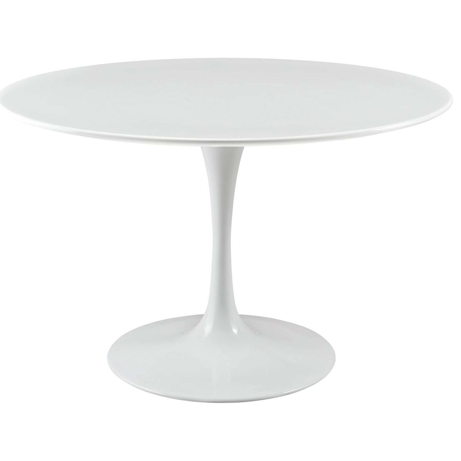 """Lippa White 47"""" Round Dining Table by Modway at Value City Furniture"""
