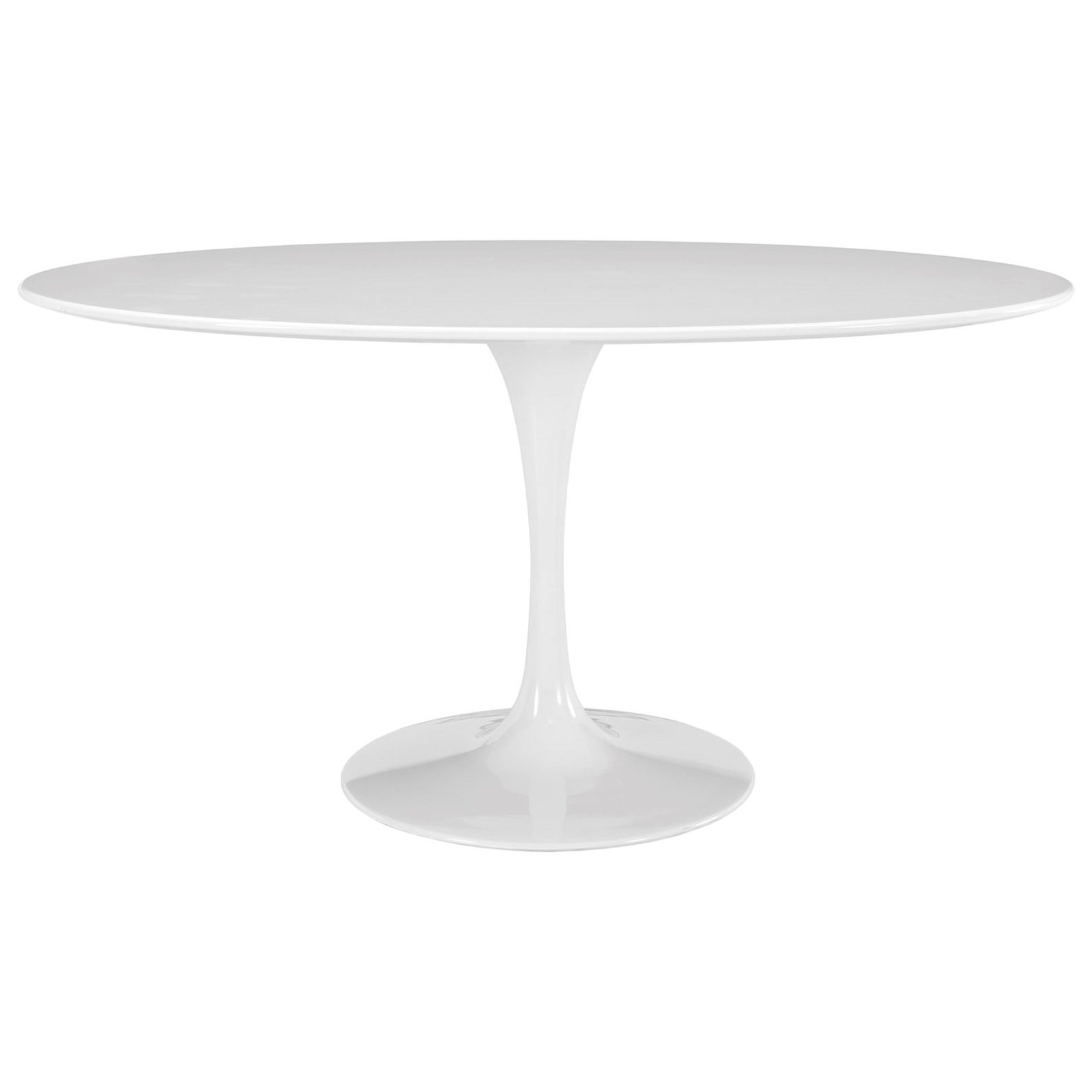 Lippa White Oval Dining Table by Modway at Value City Furniture