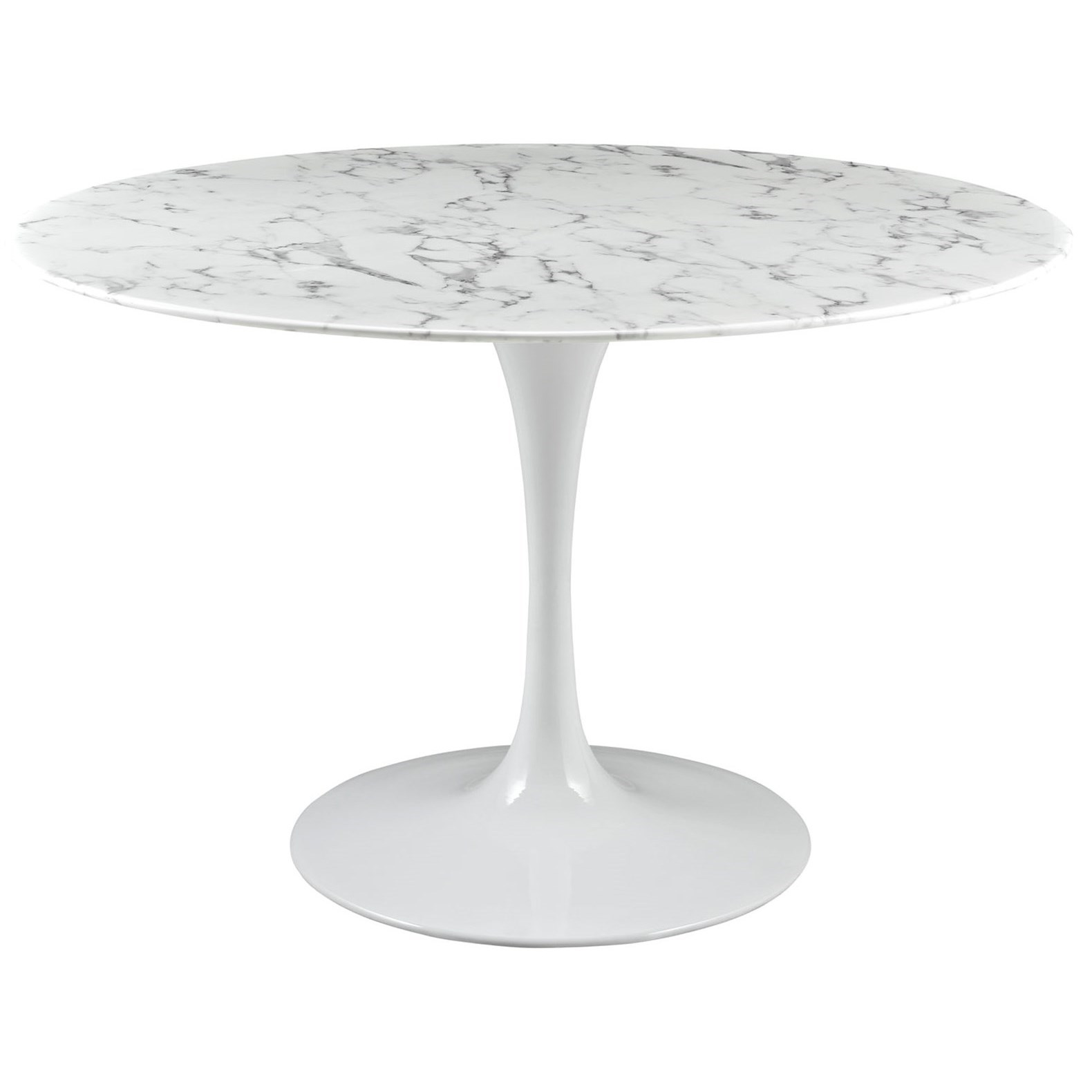 """Lippa Marble 47"""" Round Dining Table by Modway at Value City Furniture"""