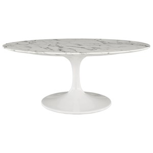 Oval-Shaped Coffee Table
