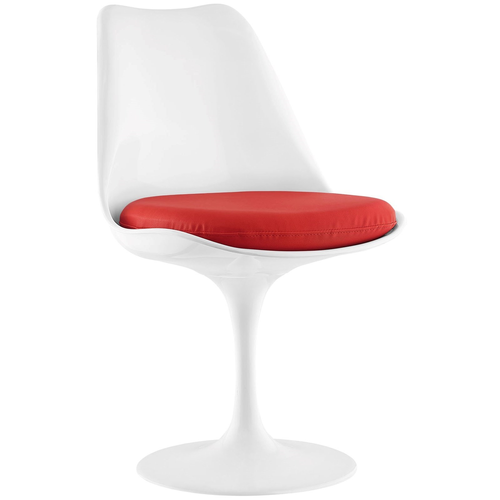 Lippa White Vinyl Side Chair by Modway at Value City Furniture