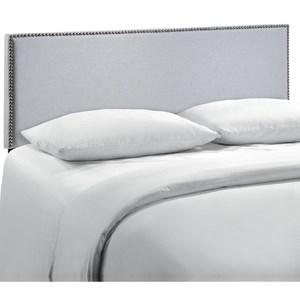 Queen Nailhead Upholstered Headboard
