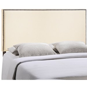 King Nailhead Upholstered Headboard