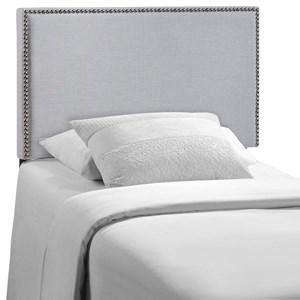 Twin Nailhead Upholstered Headboard
