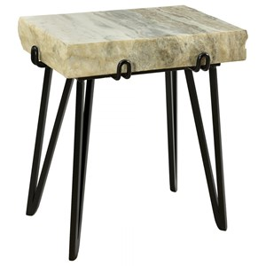 Contemporary Marble Top Accent Table