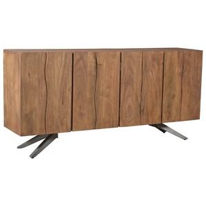 Rustic Industrial Sideboard with 4 Doors