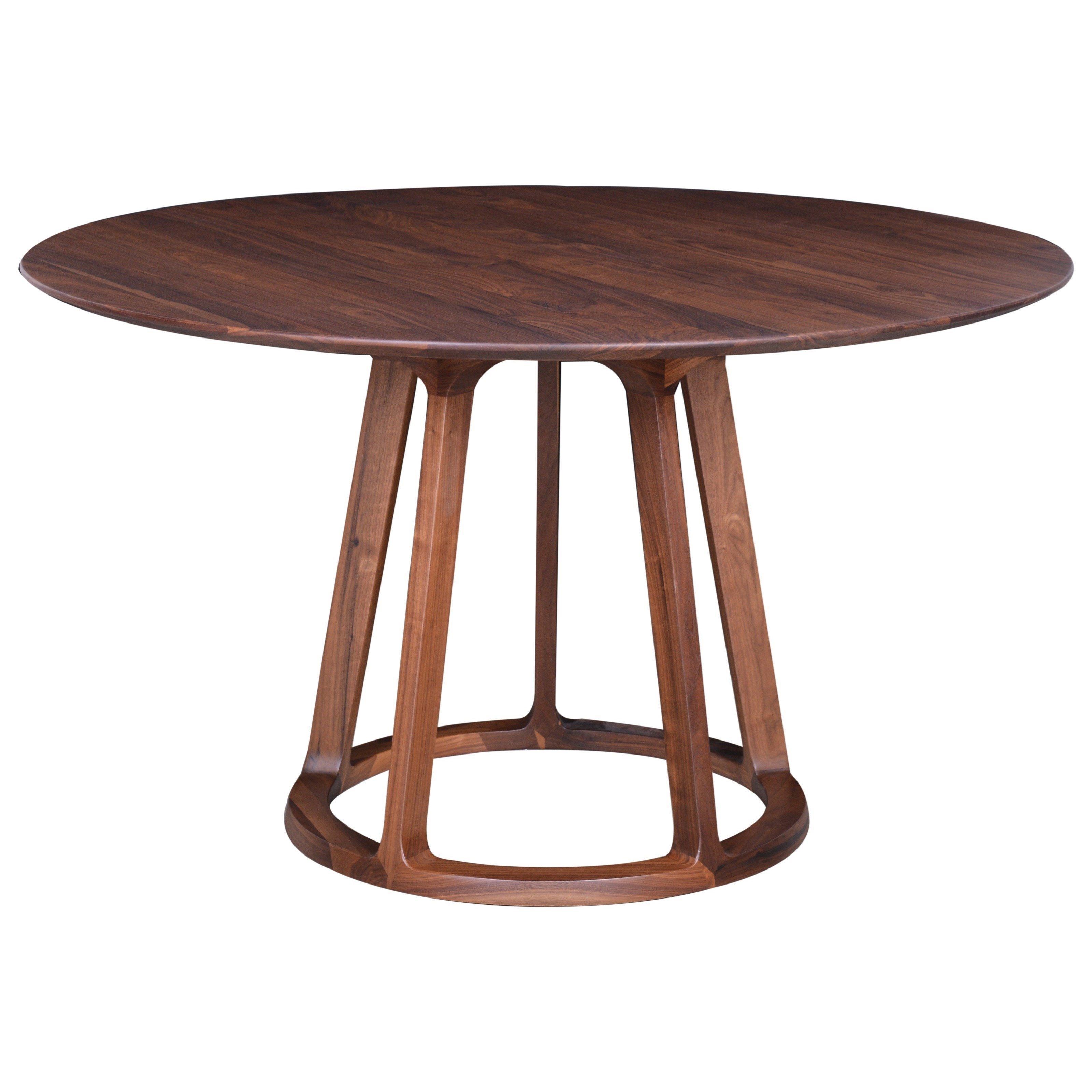Aldo  Round Dining Table  Walnut   by Moe's Home Collection at Stoney Creek Furniture