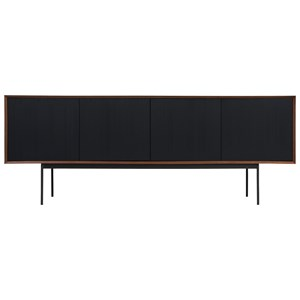 Sideboard with Black Corduroy Wood Detailing