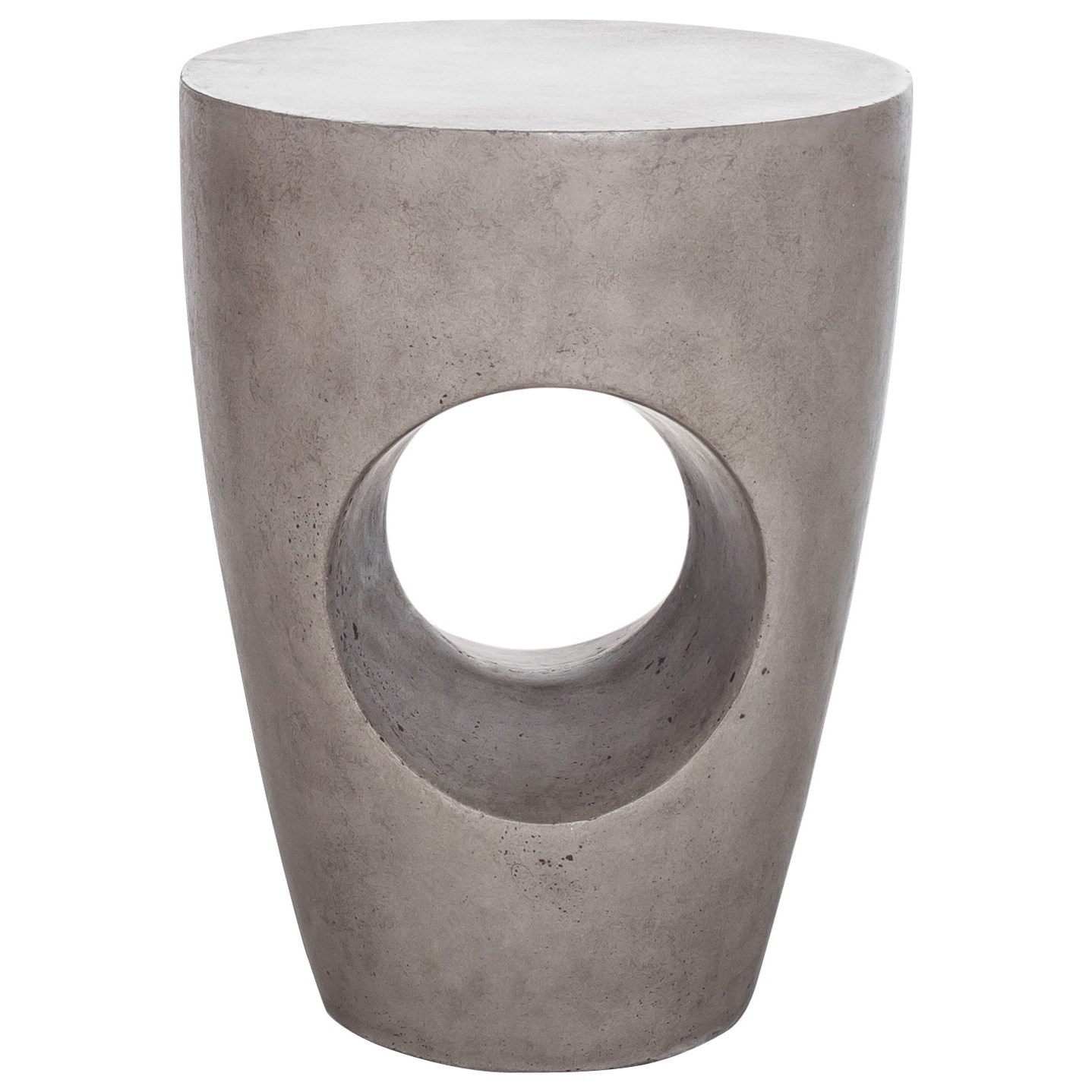 Aylard Natural Concrete Outdoor Stool by Moe's Home Collection at Stoney Creek Furniture