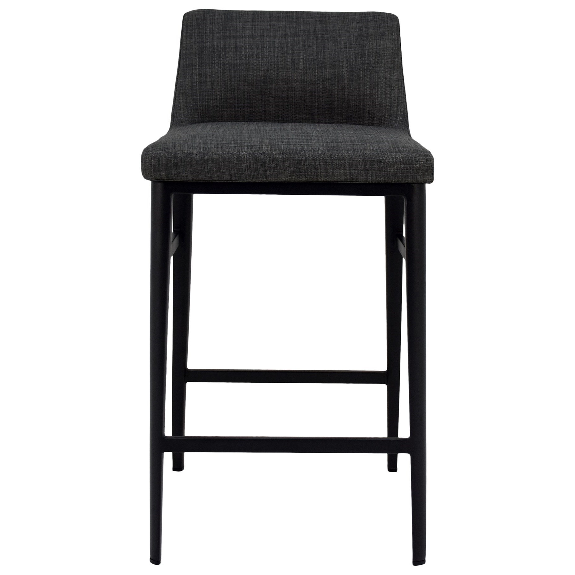 Baron Charcoal Mid-Century Modern Counter Stool at Sadler's Home Furnishings