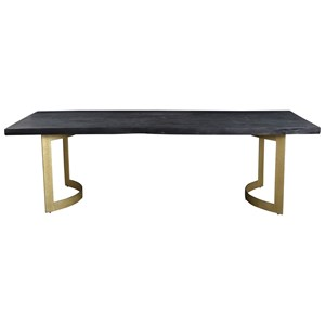 Dining Table with Live Wood Edge